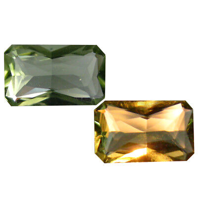 0.46 ct Romantic Octagon Shape (7 x 4 mm) Un-Heated Color Change Diaspore