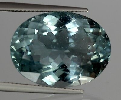 18.15 Cts Natural Africa Oval Cut Blue Aquamarine Gemstone No Reserve