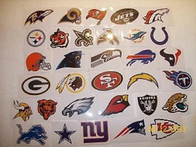 Complete Set Of Nfl Logo Stickers All 32 Teams Official Licensed