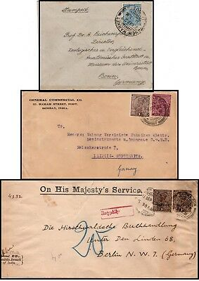 Indien: three letters to Germany 1929/30 (028)