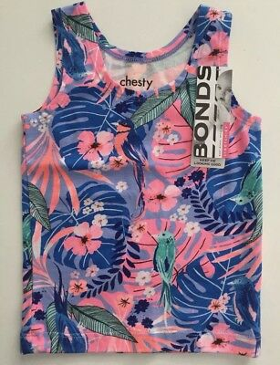 BONDS Chesty Baby Girls Singlet Size 0 Brand New With Tags