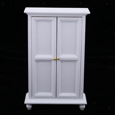 Dollhouse Kitchen/Bedroom Furniture - 1/12 Miniature Wooden Cabinet Wardrobe