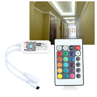 WiFi Control remoto Mini RGB LED Smart Strip Light Android / IOS Wireless APP