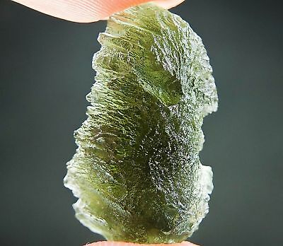 Natural Raw Moldavite with Bottle green color