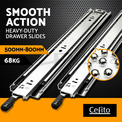 Cefito Ball Bearing Drawer Slides Heavy Duty 4WD Full Extension 16 22 20 68KG