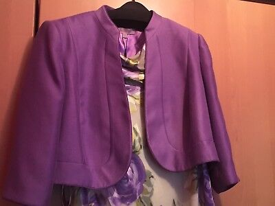 jacque vert Mother Of Bride Wedding Size 22 - 24 Hat Dress And Jacket In Purple