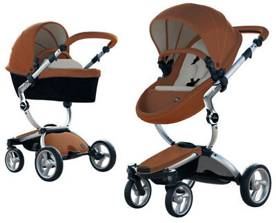 Mima Xari Aluminum Chassis Reversible Seat Stroller w Starter Pack Camel/Stone W