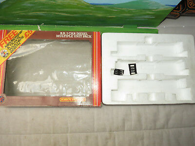 Hornby R687 BR 3 car DMU pack box only & some decal stickers
