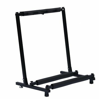 Black 3-Way Multi Guitar Stand Foldable Acoustic Electric Bass Guitar Rack
