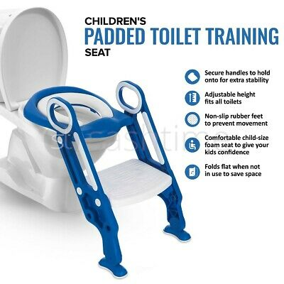 Potty Training Ladder Kid Child Toilet Toddler Step-up Soft Seat Nonslip safety