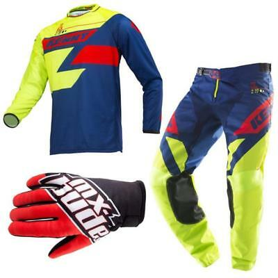 KENNY Track Motocross Jersey Hose MX Bude Handschuhe 2019 lime navy rot Offroad