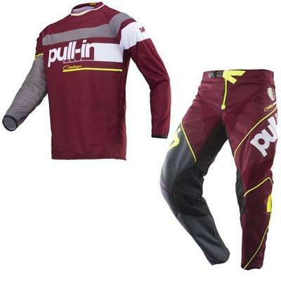 PULL-IN Challenger Race Motocross Jersey Hose 2019 burgundy Offroad Enduro Quad