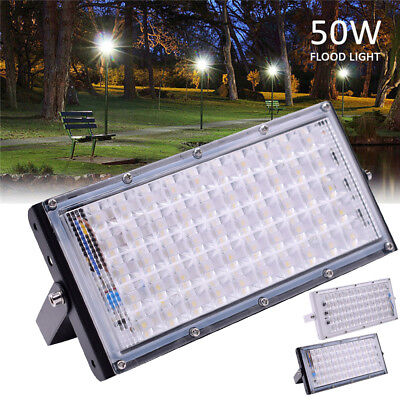 220V 50W Aluminum 50 LED Flood Light Waterproof Outdoor Garden Landscape Lamp