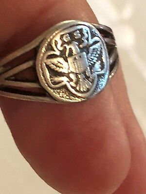 Vintage Girl Scout Sterling Ring in Box