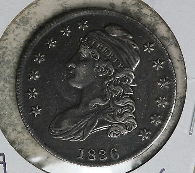 NIce 1836 Capped Bust Half Dollar!  VF Details - Very Lightly Cleaned
