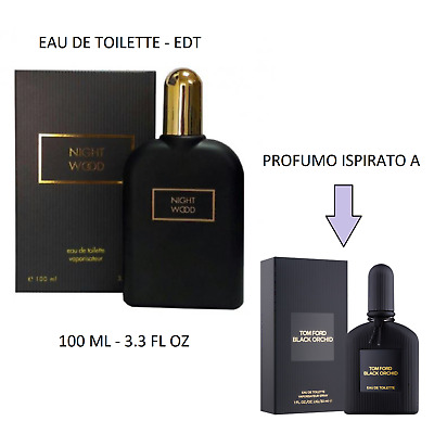Profumo Donna EDT 100ml EQUIVALENTE ISPIRATO a BLACK ORCHID DI TOM FORD - NUOVO!