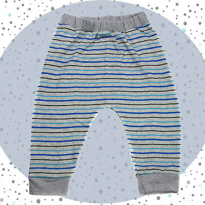 Organic Blue Stripe Trouser - Baby Clothing - Legging - Unisex Hareem Trouser