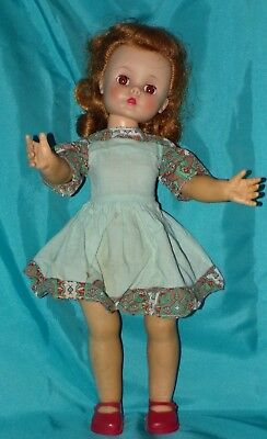 """Vintage 1950s Madame Alexander Marybel Gets Well 15"""" Doll w/ Shoes & Dress"""