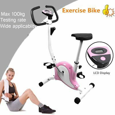 OUTAD Gym Fitness Master Exercise Bike Cardio Workout Adjustable Resistance Pink