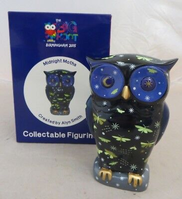 """The Big Hoot Birmingham 2015 """"Midnight Moths"""" Collectable Figurine, comes boxed"""