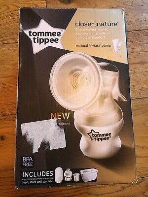 Tommee Tippee Closer to Nature manual breast pump breast feeding baby maternity