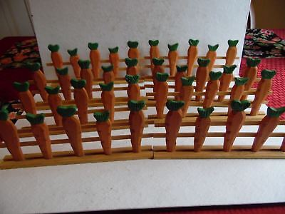 "8 Sections of 10"" Wooden Carrot Fencing Spring Easter Village Fence"
