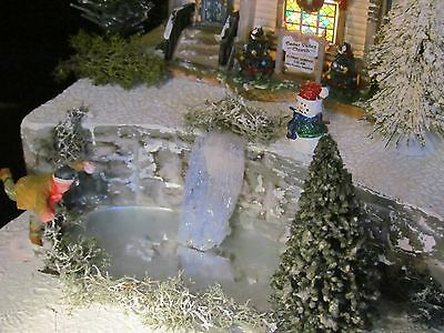 Christmas WATERFALL Frozen POND Village Display platform base Dept 56 No. Pole