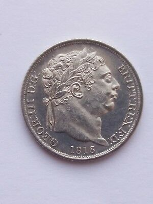 British silver sixpence 1816