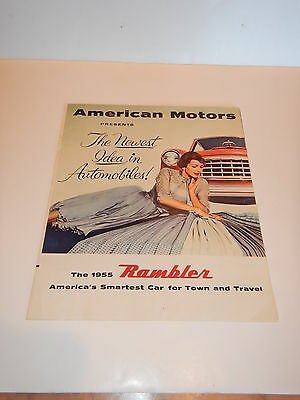 ORIGINAL 1955 RAMBLER AUTOMOBILE DEALER SALES BROCHURE  (lot 37)