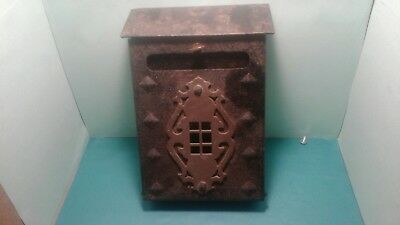 VINTAGE Mailbox beautiful  Arts & Crafts Mission Style Metal and brass original