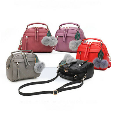 Women Fashion Faux Leather Shoulder Bags Handbag Tote Bag Storage Purse Gift D