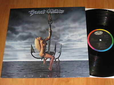 Great White - Hooked LP 1991 / First Press / RAR / TOP ( 9 )