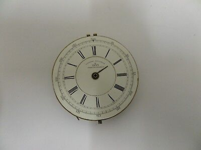 Antique Chronograph D & M Hyams. London Fusee Pocket Watch Movement For Repair