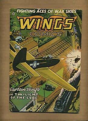 Wings Comics 62 (VG-) 1945 Fiction House Clipper Kirk Suicide Smith (c#08723)