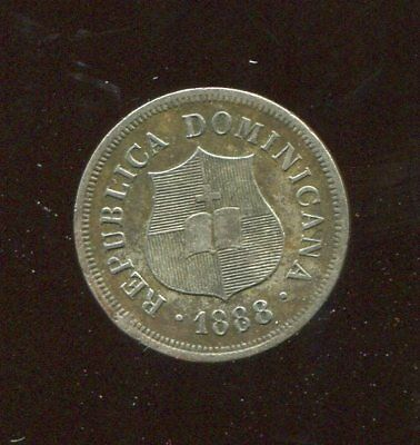 Dominican Republic 1888.a , 1-1/4 Centavos.....low Minted 500.k