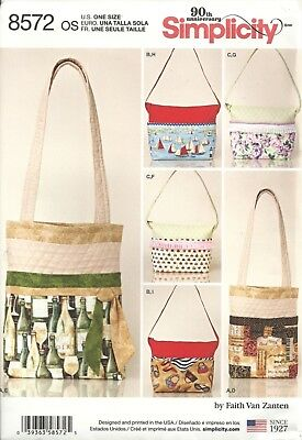 Simplicity 8572 Bags In 2 Sizes W/changeable Covers Sewing Pattern