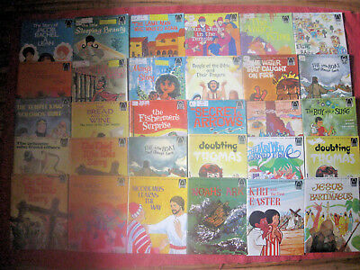 Vintage+ Lot of 27 Arch Quality Religious Christian Children Books Bible Stories