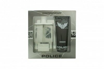 Police Contemporary Gift Set 100Ml Edt + 100Ml Be Younique Shower & Shampoo. New