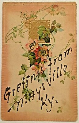 Antique Postcard - Greetings from Maysville Kentucky KY