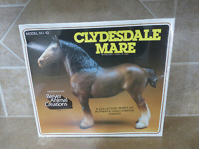NR Sealed NIB Breyer horse #83 Clydesdale Mare draft card board picture box NRFB