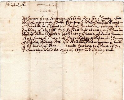 1719, Boston, Peter Belton, post road rider, robbed of his goods, jury finding