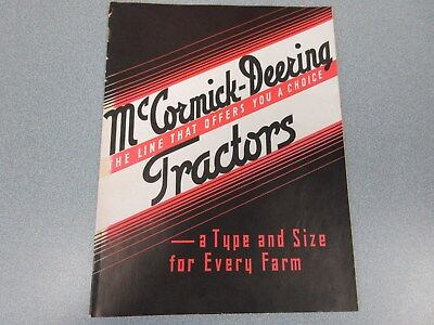 1937 Farmall Full Line Farm Tractor & Crawler Sales Brochure Nice See Pictures