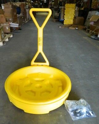 Eagle Mobile Spill Wheeled Drum Tray w/Handle 12 Gal Cap 1613