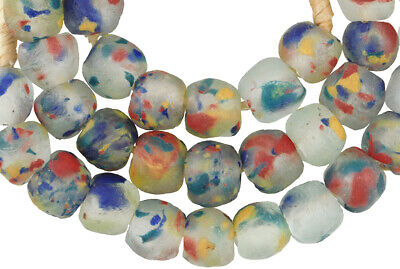 Trade Beads African powder glass Krobo Dipo Ghana multicolored recycled glass