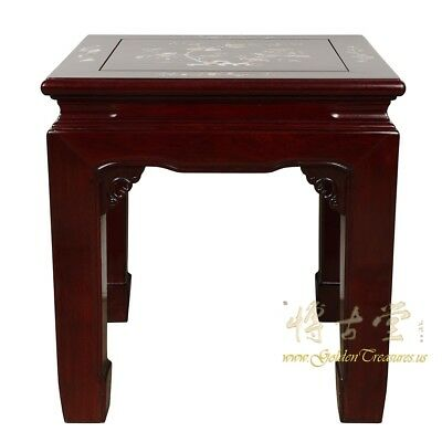 Vintage Chinese Rosewood with MOP inlayed End Table
