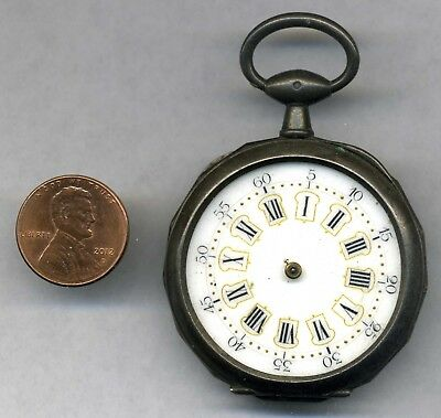 c. 1870 Swiss key wind pocket watch w/ sailing steam ship case for parts/repair