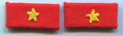 WWII WW2 Japanese Army Private 2nd Class Collar Tabs Pair