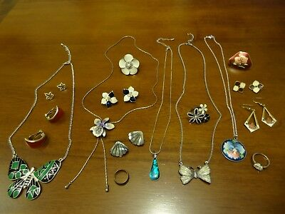 Gorgeous Job Lot Of Enamelled Jewellery, Some Vintage.