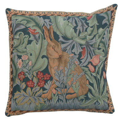 Rabbit As William Morris French Tapestry Hand Finished Cushion Cover Bunny