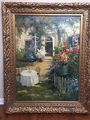 Large oil painting; 40.5 inches wide and 51inches high; Long Grove Antique Store